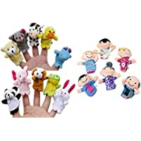 Auxma 16PC Story Finger Puppets 10 Animales 6
