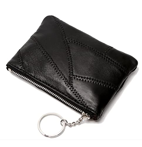 362fe19124e Coiol Womens Mini Coin Purse Wallet Genuine Leather Zipper Pouch with Key  Ring