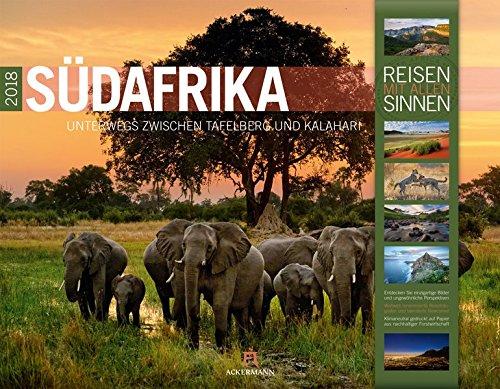 Südafrika 2018 (Reisen mit allen Sinnen) Kalender – Wandkalender, 24. Mai 2017 Ackermann Kunstverlag 383841845X Bildbände / Afrika Südliches Afrika