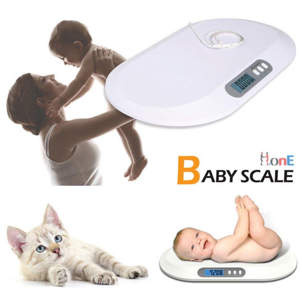 [アイワーナー] Iwanna デジタル赤ちゃん 幼児用 ペット 体重計 50G-20KG スケーラブル 体重 長さ 周り測定 23mm大型LCD 海外直送品 (Digital Baby Infant Pet Scale 50G-20KG Measurable Weight Perimeter Measurement) B0781K5BBH