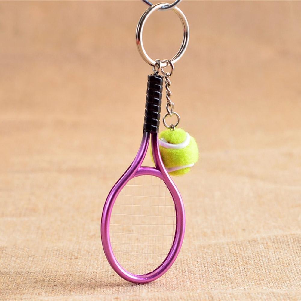 Amazon.com: bleumoo 1pcs Mini Metal raqueta de tenis hecho a ...