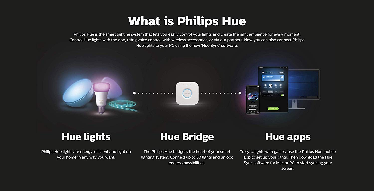 Philips Hue Play - White & Color Ambiance Smart LED Bar Light - Black - 2  Pack (Base Kit)