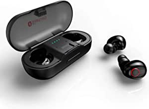 UTech Tiny Bluetooth earpiece with Microphone, Wireless Earbuds, in Ear Bluetooth Earphones, HD Stereo, not Falls During strenuous Sport, Gym, Ride, Running, Gaming
