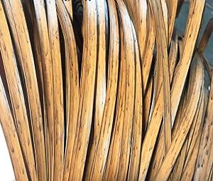 Wood Grain Flat Synthetic Rattan Repair Material Plastic Rattan Wicker Repair Kit Wicker Patio Furniture Repair, Used for Weaving and Repairing Chairs, Tables, Storage Baskets