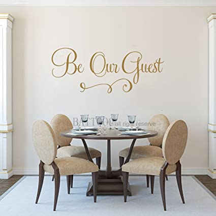 Amazon.com: BATTOO Be Our Guest Wall Decal Guest Bedroom Decal ...