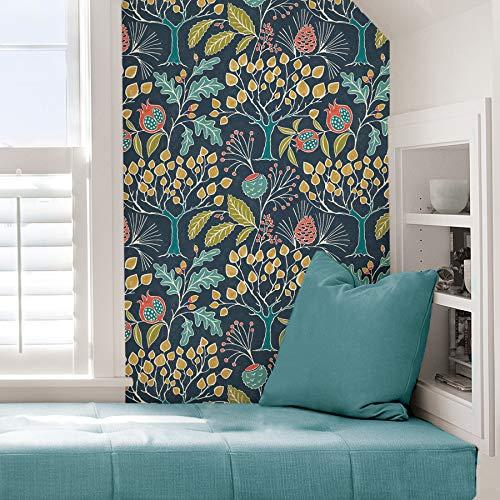 Groovy garden peel & stick wallpaper