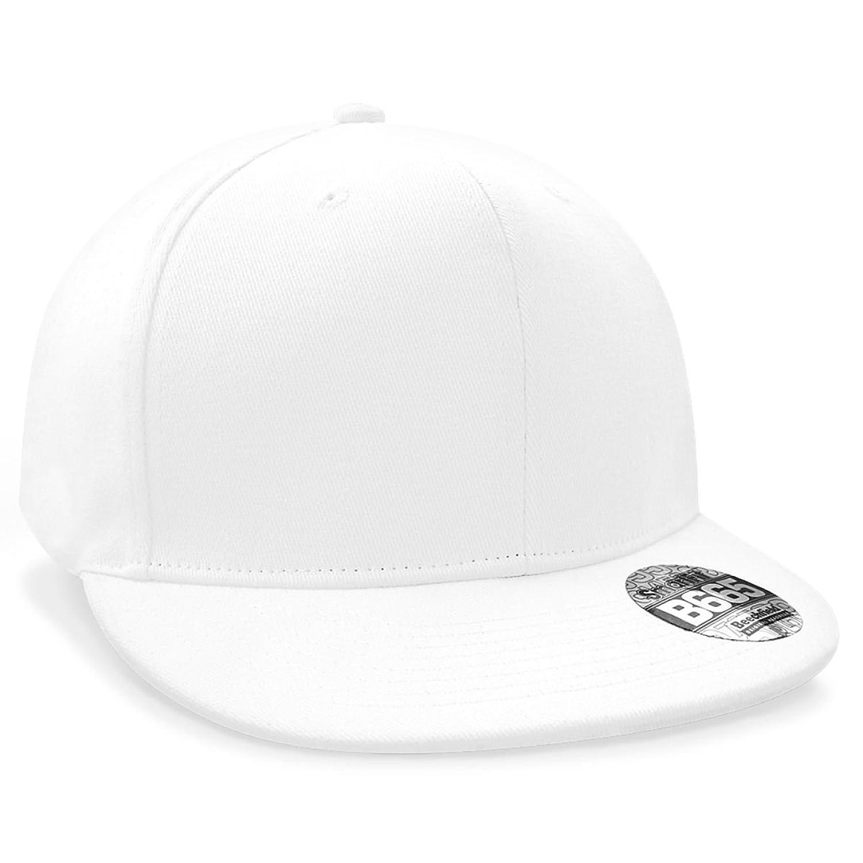Beechfield Rapper Cap, weiß Weiß