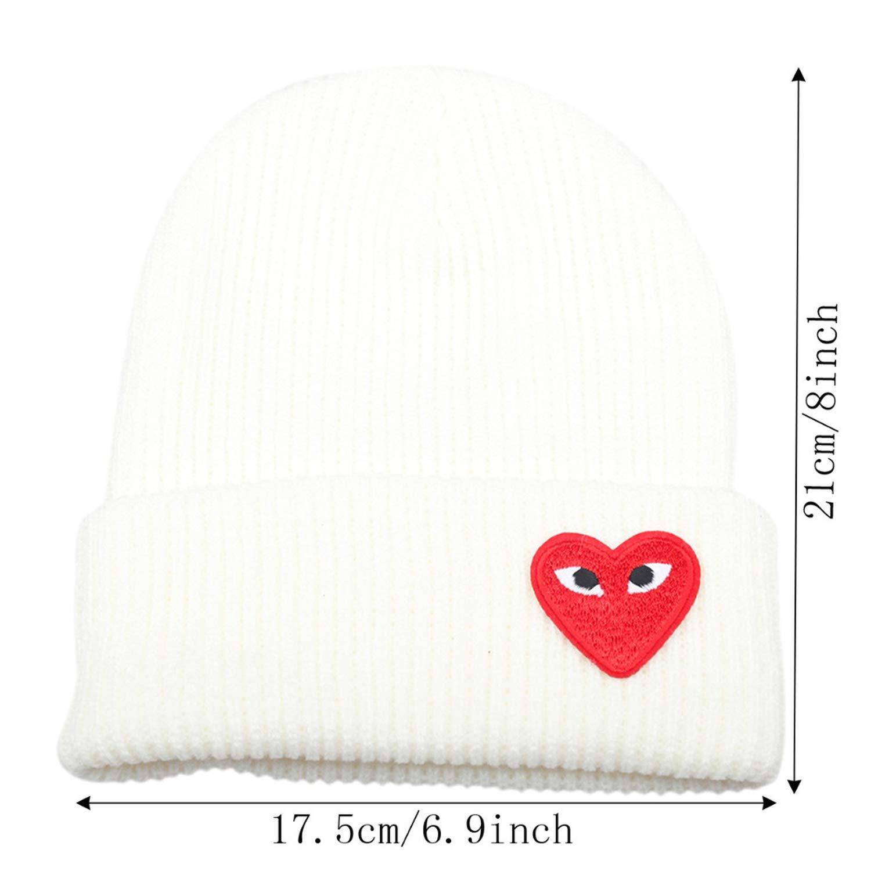 3cfc6cb6 Jeremy Stone Winter Women Warm Hats Heart Eyes Cartoon Label Beanies ...