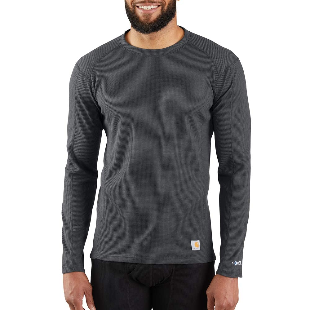 Carhartt Men's Size Force Midweight Classic Thermal Base Layer Long Sleeve Shirt, Shadow, 2X-Large Tall by Carhartt
