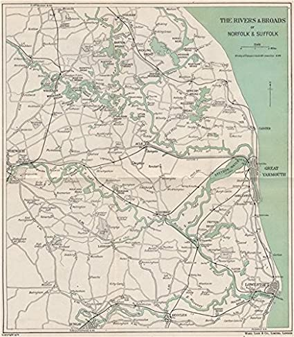 THE NORFOLK BROADS. Great Yarmouth Lowestoft Norwich Beccles. WARD ...