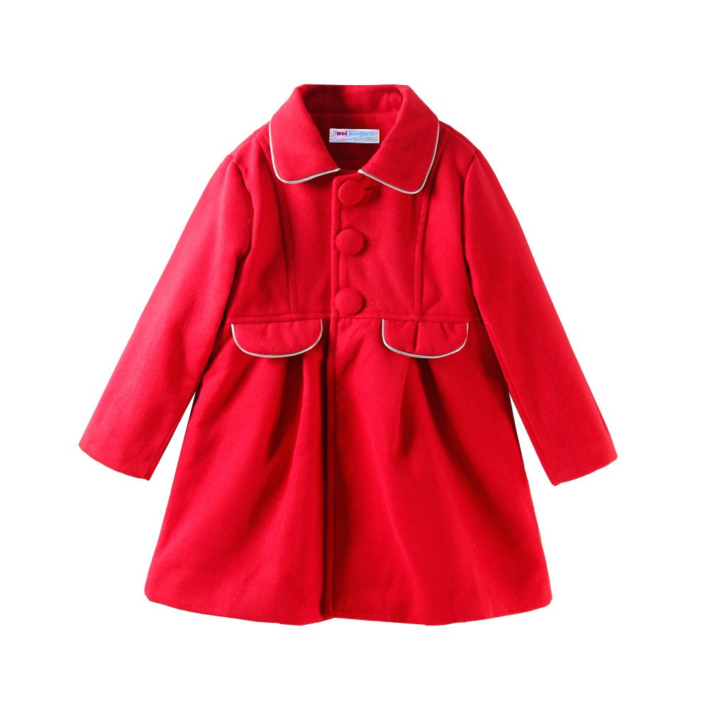 Mud Kingdom Little Girls Peacoat Faux Wool Dress Coat Slim ZS0454
