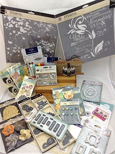 Super Mixed Media Kit with 22 itens: Prima Marketing and Faber Castell by Prima Marketing and Faber Castell