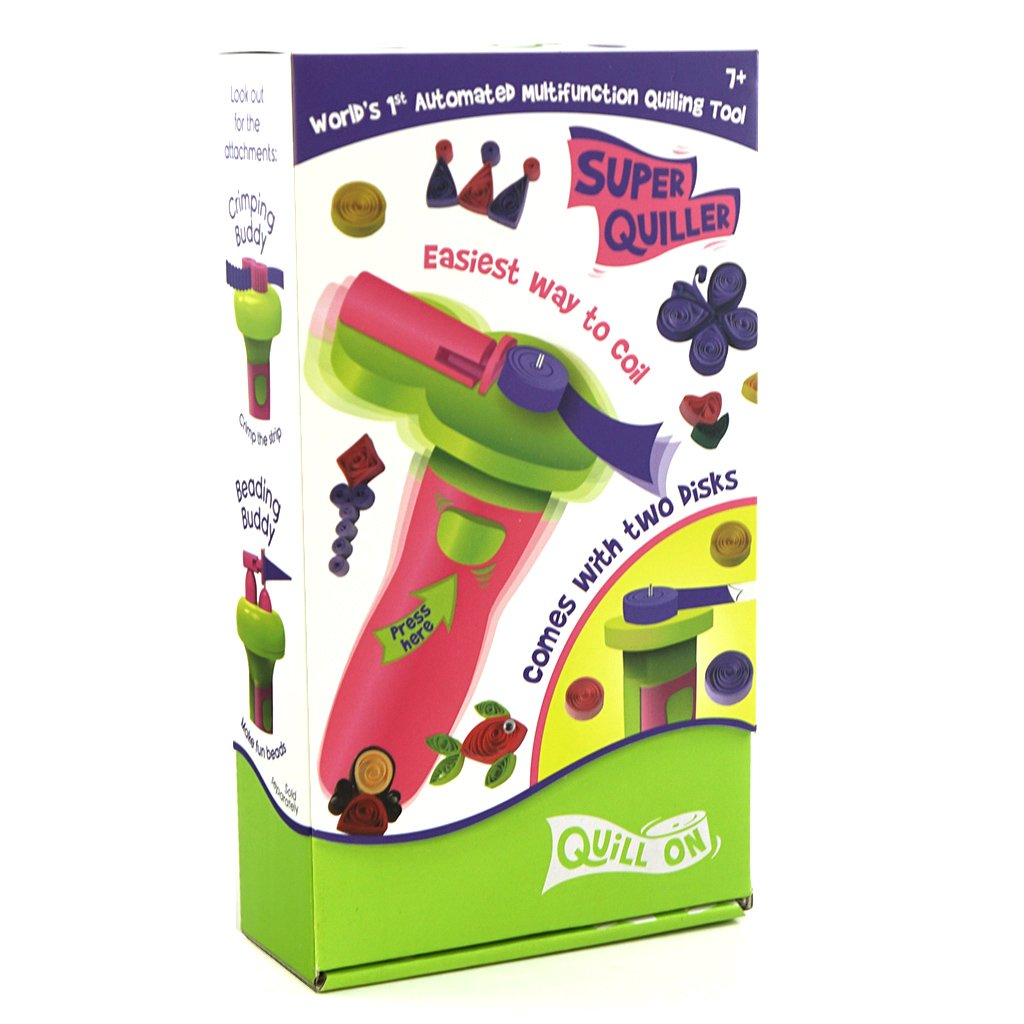 QUILL ON - Super Quiller - Automated Multifunction Quilling Tool - Pink by Quill On
