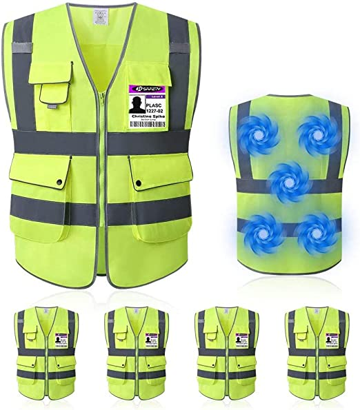 Amazon Com Mintiant 5 Pack Reflective High Visibility Safety Vest