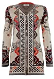 IVKO Long Sweater Jacket, Morocco Pattern, Marine, EUR 42 - US 12