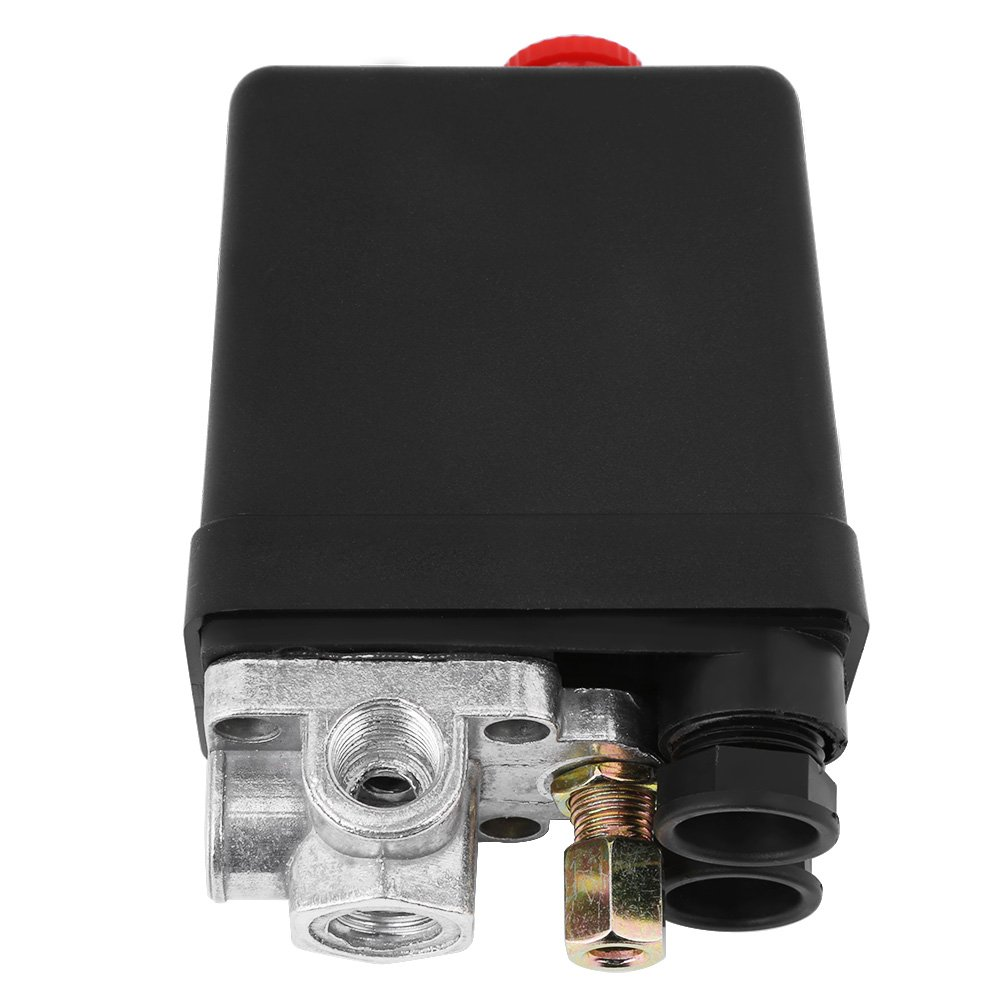 120PSI Heavy Duty 240V 16A Four Port Air Compressor Pressure Switch Control Valve Replacement Parts 90PSI Air Compressor Switch