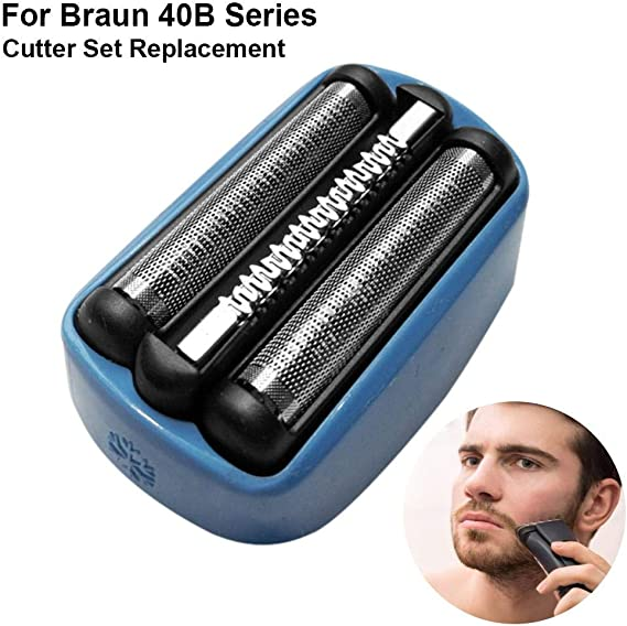 Lámina de Repuesto para Braun CoolTec 40B Cabezal de Repuesto de lámina y Cortador, Reemplazo de afeitadora de ...