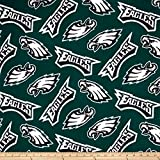Fabric Traditions CK-153 NFL Fleece Philadelphia Eagles Green/White Fabric by The Yard