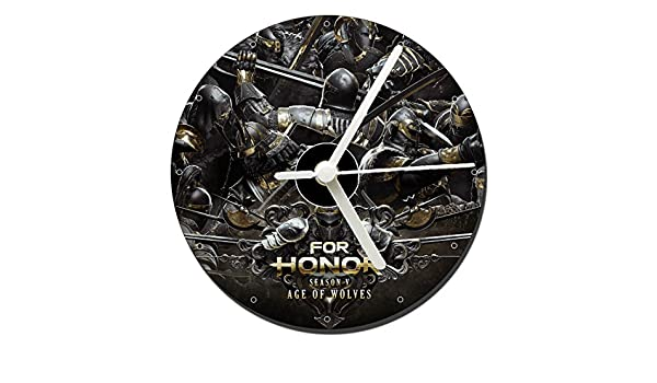 MasTazas For Honor Season V Age of Wolves Reloj CD Clock 12cm: Amazon.es: Hogar