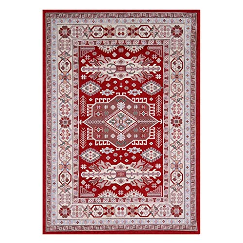 GWXDT Hallway Runner Rugs Corridor Living Room Entrance Bedroom Bathroom Bedside Washable Soft-Touch Non-Woven Bottom Anti-Skid No Smell, Thickness 6mm (Color : C2, Size : 120180CM)