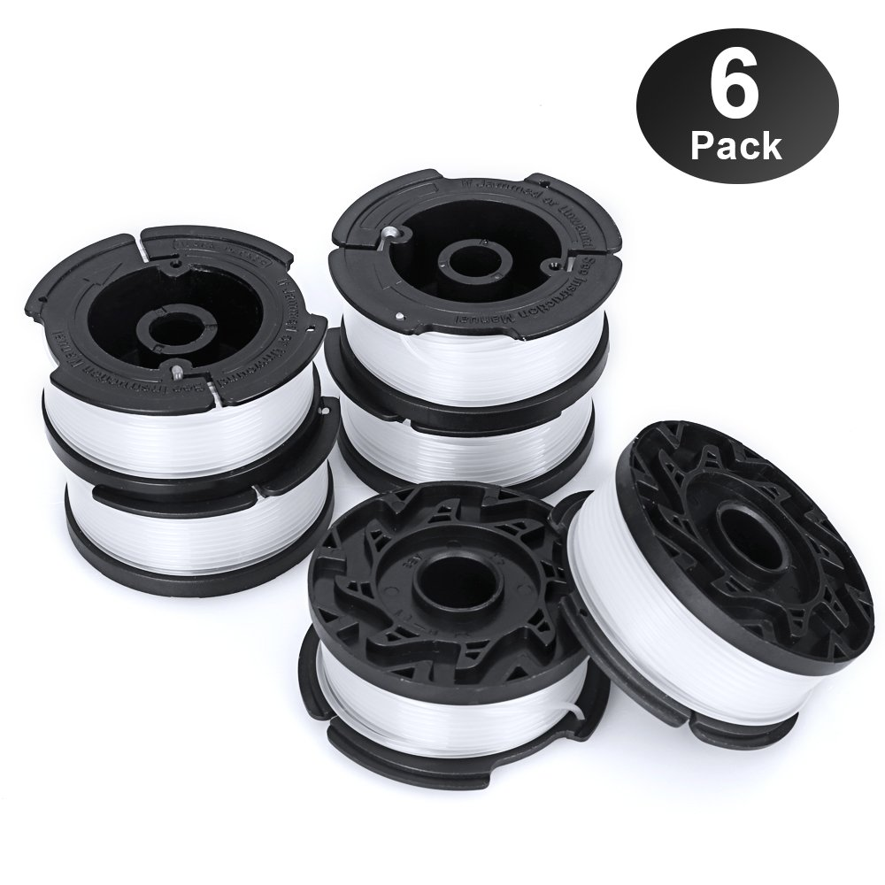 "YWTESCH Line String Trimmer Replacement Spool,30ft 0.065"" Autofeed String Trimmer Line Replacement Spool for Black+Decker String Trimmers (Pack of 6/30ft)"