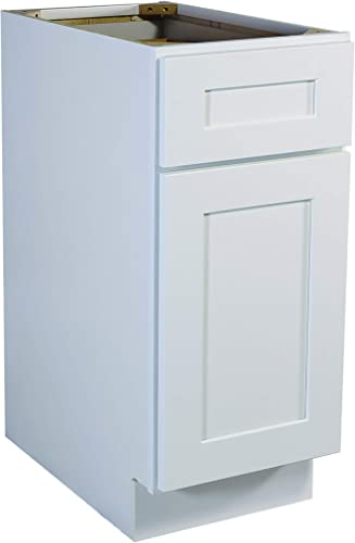 Design House Brookings Unassembled Shaker Base Kitchen Cabinet 18×34.5×24, White, 18