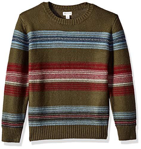 Gymboree Boys' Big Long Sleeve Pullover Sweater, Cool Tone Stripes, XS (Gymboree Boys Sweater)