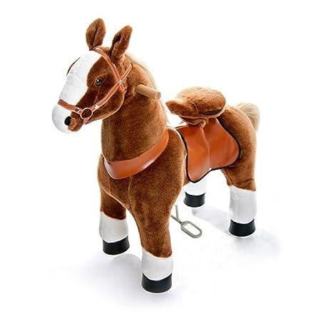 #Beiges Pferd auf Rädern Ponycycle#
