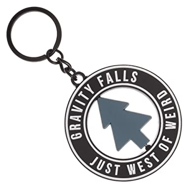 Gravity Falls Just West of Weird Keychain