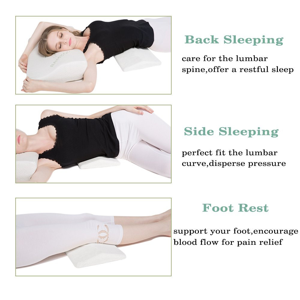 Soft Memory Foam Sleeping Pillow For Lower Back Pain