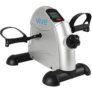 Vive Pedal Exerciser - Stationary Exercise Leg Peddler