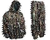 Ambush HD Brown Camouflage Hunting 3D Leafy Ghillie Suit (XL)