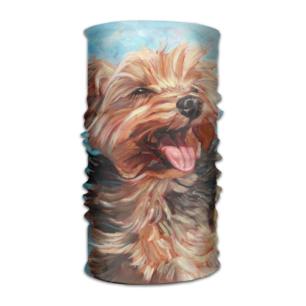 Owen Pullman Multifunctional Headwear Yorkshire Terrier Head Wrap Elastic Turban Sport Headband Outdoor Sweatband