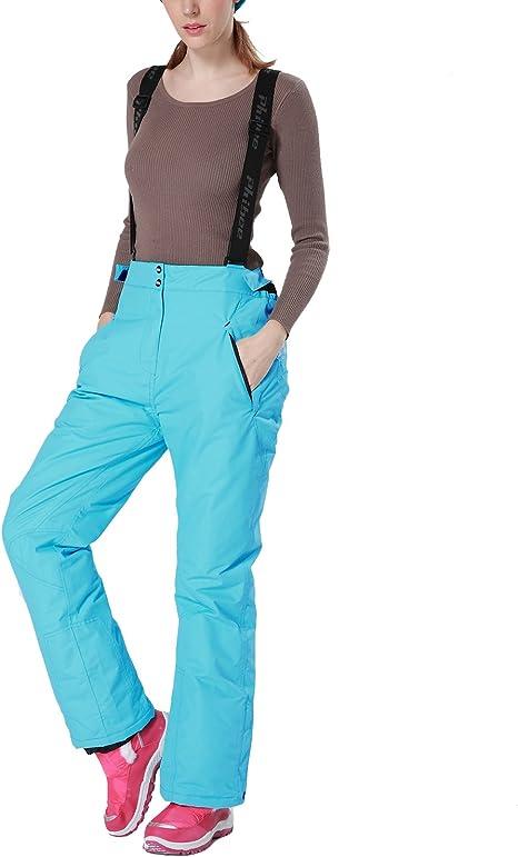 PHIBEE Mens Waterproof Breathable Polyester Outdoor Ski Snowboard Pants