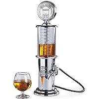 Distributeur de boisson au design chromé Rétro Nostalgie, pompe à pression pour bar, avec tuyau de pompe pour fêtes, distributeur de boissons, distributeur à bière, colonne à bière, fêtes, gadgets