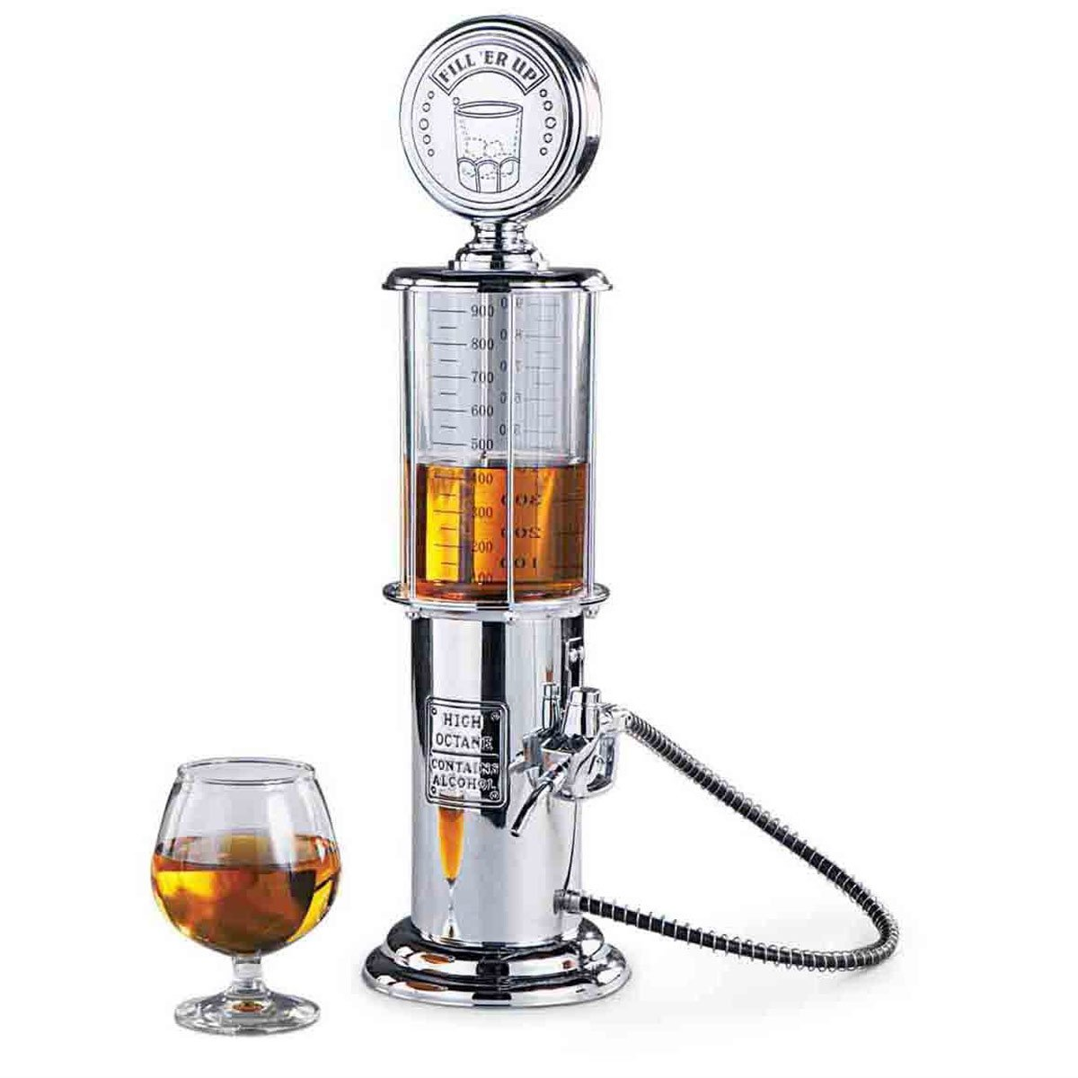 Retro Drink Dispenser in chrome-plated nostalgia design | Bar-Butler Dispenser with dispensing hose for party drinks Dispenser Biertower Beer Dispenser Dispenser Beer Column | Party Gadgets Goods & Gadgets