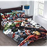 Marvel Avengers Agents of SHIELD Full Comforter Set with Fitted Sheet