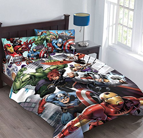Marvel Avengers Agents of SHIELD Twin Comforter Set using Fitted Sheet