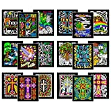 Super Pack of 18 Fuzzy Velvet 8x10 Inch Posters (Christian Edition)