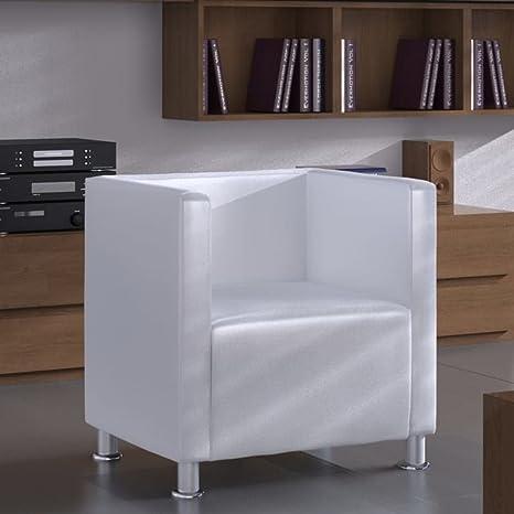 WEILANDEAL Sillon con Diseno de Cubo de Cuero Artificial ...