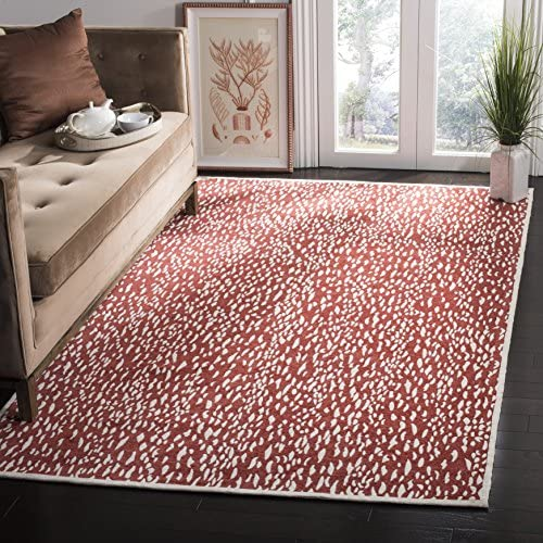 Safavieh Marbella Collection MRB657R Handmade Area Rug, 8 x 10 , Red Ivory