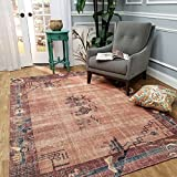 "Maxy Home Valencia Premium 2x5 (2'7"" x 4'11"") Shed Free Easy Care Stain Fade Resistant Contemporary Antique Vintage Bohemian Bedroom, Living room, Kitchen Accent Area Runner Rug"