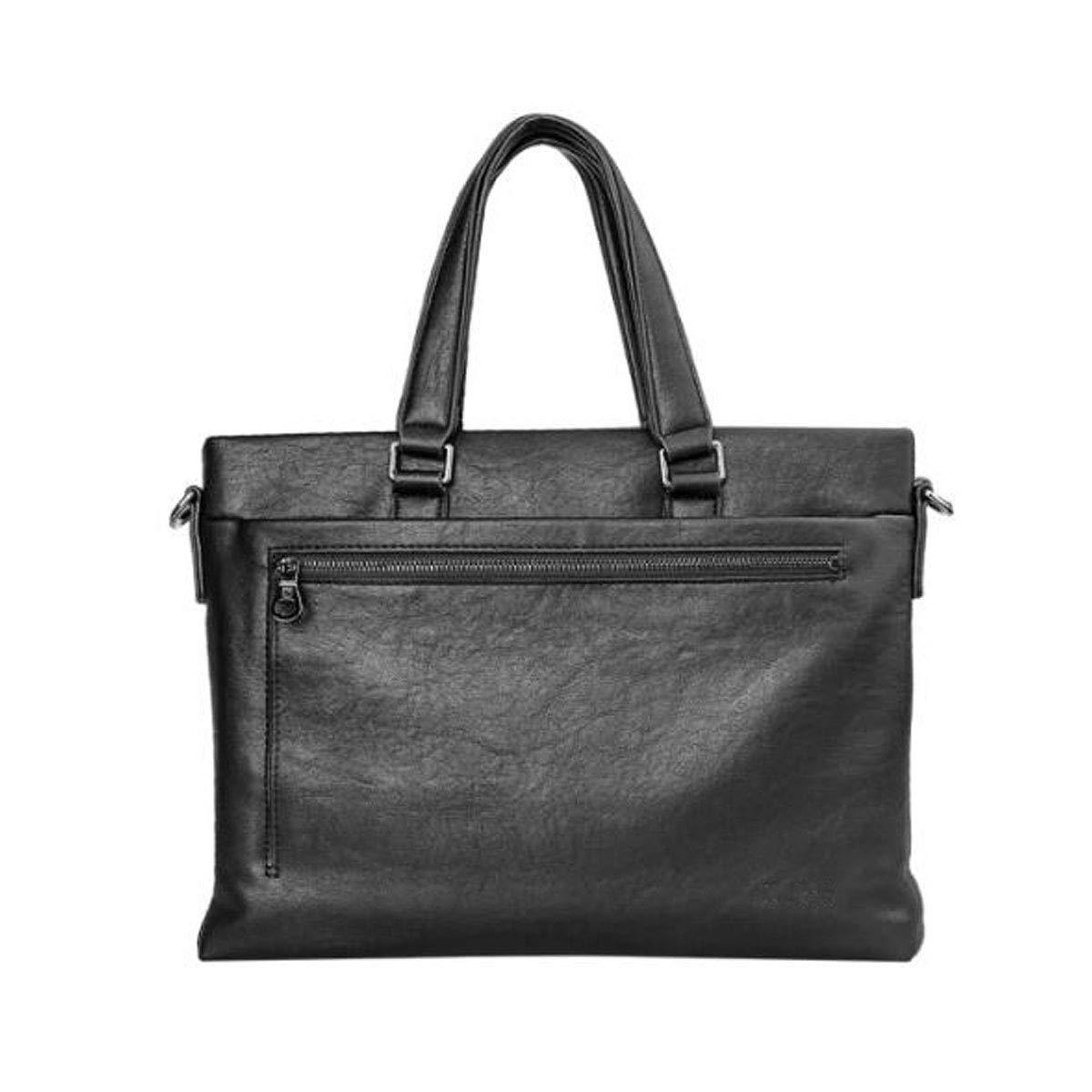 ブリーフケース、メンズビジネスカジュアルハンドバッグ、ブラックサイズ:36.5 * 4.5 * 27.3cm B07R461NKR ブラック