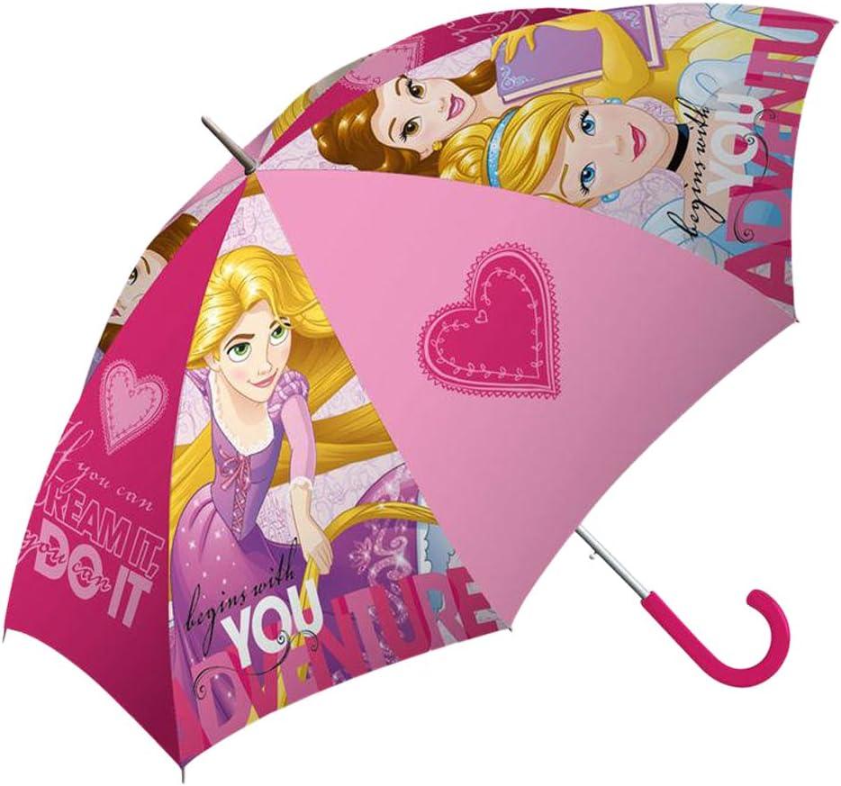 Multicolore Disney Princess Parapluie Canne 40 cm