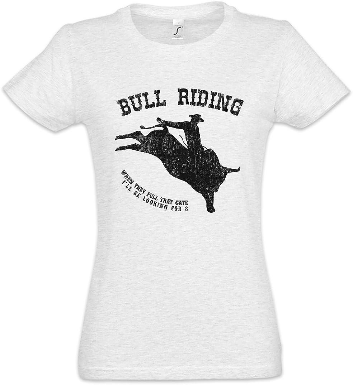 Urban Backwoods Bull Riding Camiseta de Mujer Women T-Shirt