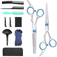 Professional Hair Cutting Scissors Set 11 PCS Hairdressing Haircut Scissors Kit, Thinning Shears, Hair Razor Comb, Hair…