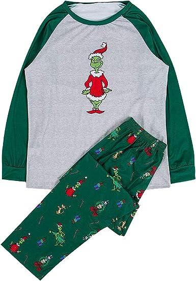 Pijama de Navidad Grinch Juego Familiar a Juego Disfraz de Ropa ...