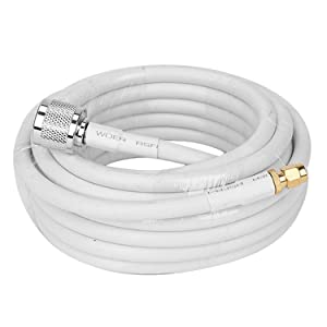 100ft Coaxial Cable 5D-FB OD7.5 Ultra Low Loss Coaxial Antenna Cable with N-Type Male to SMA-Type Male Connector Ends for Cell Signal Booster