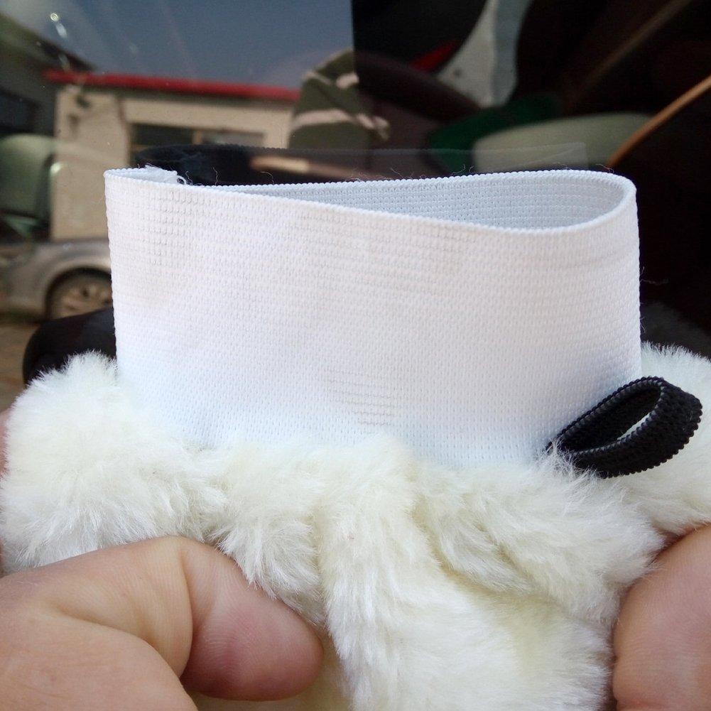 DEHAIW Lavaggio auto guanto guanto di pulizia vello d agnello peluche pulizia Spolverino polacco lucidatura per Hoursehold auto Clean Tool