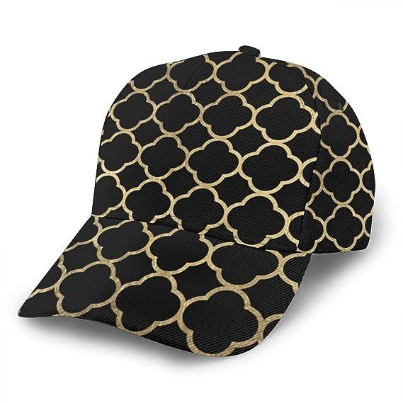 Liliylove Elegante Gorra de béisbol geométrica Negra de imitación ...